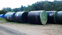 steel and iron 10,000 liters, 5,000 liters water tanks