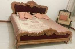 King Size Bed with Beautiful Carving