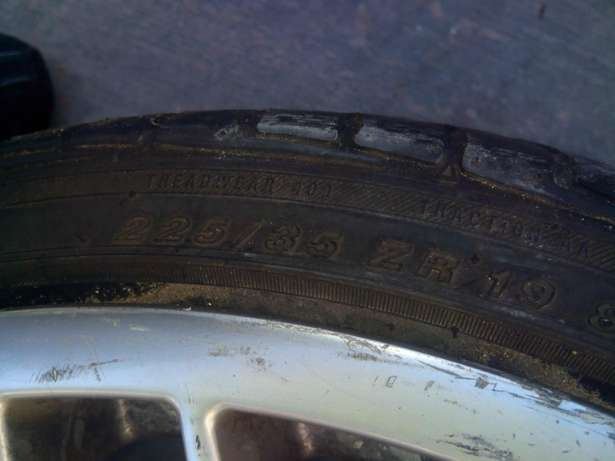 Size 19 bmw original mags with original tyres stil good Bramley - image 3