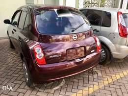 NISSAN MARCH 2010 Wine Red 1200CC - New Import