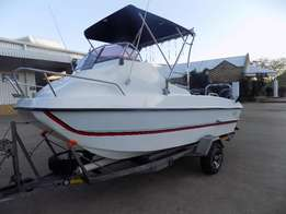 game fish 510 on trailer 2 x 60 hp mercury 4 strokes 195 hours