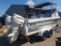 625 COBRA CAT with Two Evinrude Motors , 2008 Model + - 900Hours