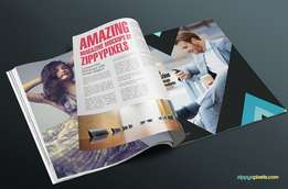 Design, printing and publishing of Magazines and company profiles.