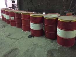 used 210l drums at 60 rand per drum