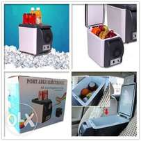Potable electronic 6ltr cooling $ warming refrigerator for the car