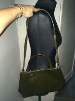 2de700e964220 Sagan nowa zielona lakierkowa skórzana torebka na ramię okazja