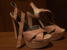 Босоножки розовые на танкетке и каблуке Jessica Simpson 38-38.5 америк 13311e12194c3