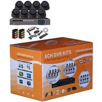 Complete 8 Channel CCTV D.I.Y Kit with HD dome Cameras