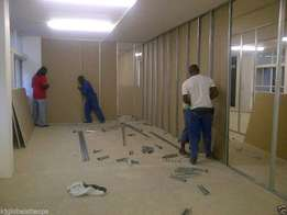 Drywalling partitions tilling concrete screeding painting ceilings