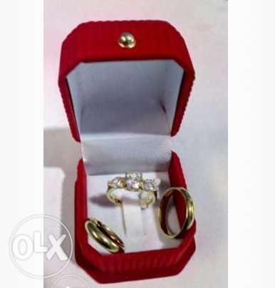 3 Toned Wedding and Engagement Ring Lagos - image 1