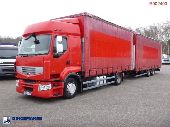 Renault Premium 460.19 4x2 volume curtain sider + trailer - 2011