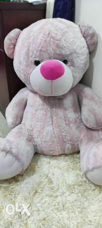 Pink teddy bear, need a wash that's it