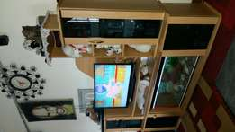 Wall unit plus Aquarium on sale