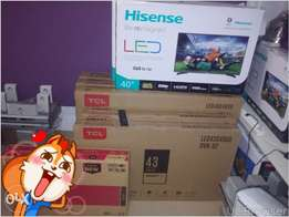 fresh in box HISENSE flat screen tvs