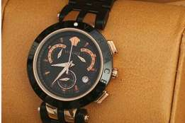 Versace Watch Character Chronograph Black Dial Stainless Steel Watch