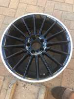 4 Black rims for Mercedes Benz or any other car model