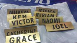 Name tags / door plates