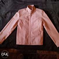 Pink leather jacket S/M - As new