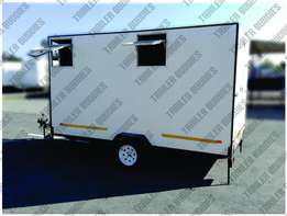 Do it standing up - 3,6 metre Mobile Camper - new - equipped - RWC