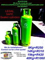 LPG installers,repairs and C.O.C certificates and gas supply