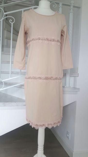 1e7f8e6663 sukienka różowa koronka dresowa rozm 40 Wyszków - image 2