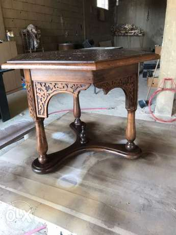 hand crafted oriental table