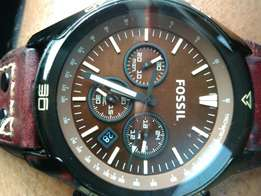 Fossil Coachman Chronograph Leather Watch CH2990