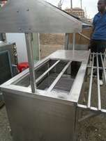 Bain marie display buffet with under counter chiller