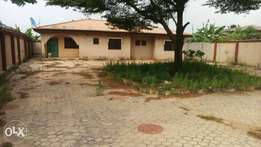 3bedrm bungalow on a plot of land at Akute (C of O)