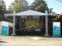 lighting, stage, sounds, stage effects, daylight screens, projectors