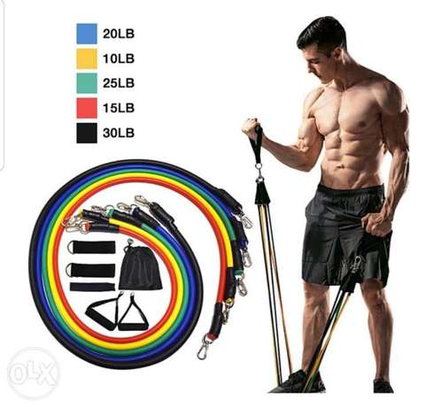 GYM Fitness Resistance Band 11 pcs