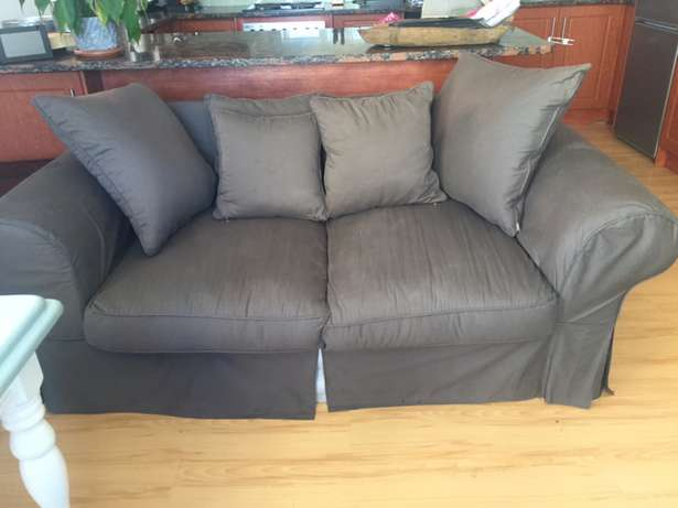 Grey Fabric 2 Seater Couch (Excellent Condition) Strand - image 1