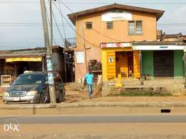 Structure on half plot for sale at Ejigbo Isolo lagos