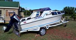 Baronet Cabin boat with 75hp electric trim and Tilt 75hp Yamaha engine
