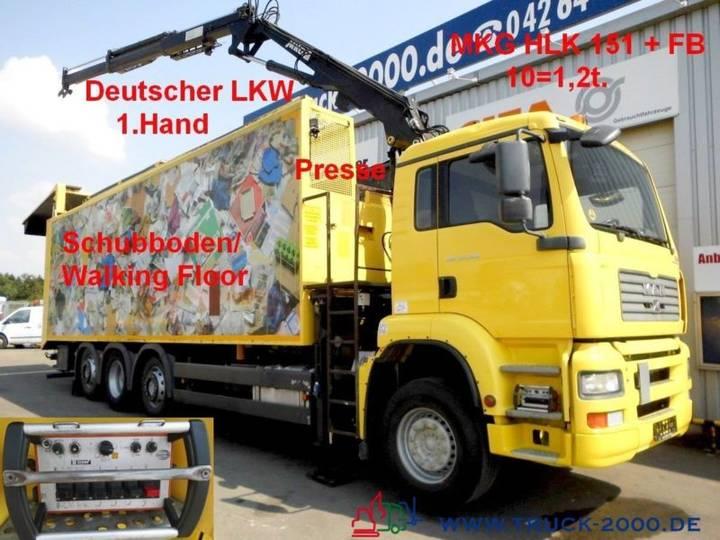 MAN TGA 32.390 Schubboden 57m³ Kran 10m Müll Presse - 2005