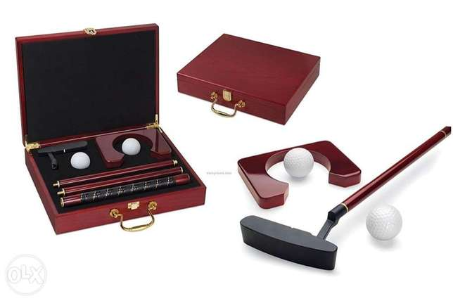 Wooden Golf Kit Perfect for Office and Home Practice - 350,000 LBP