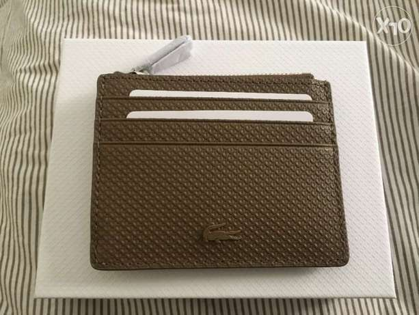 Lacoste Brand New Zip Credit Card Holder