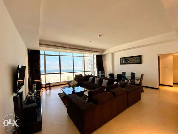 Higher floor sea view 2BR apartment for rent/gym/pool/ewa/pets allowed