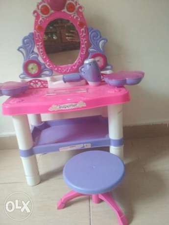 Dressing table with music and light and stool