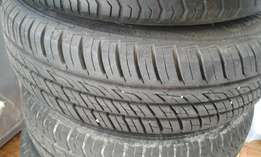 Set of five(5) 175/70 R13 tyres 90% tread with wheel