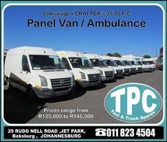 Volkswagen CRAFTER Panel Van / Ambulances - Used Runner's for Sale