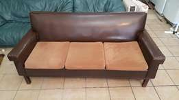 3 SEATERS leather couch for sale