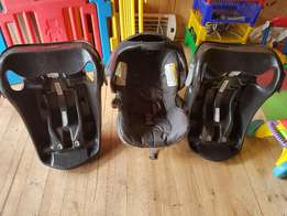 Baby car seat and brackets