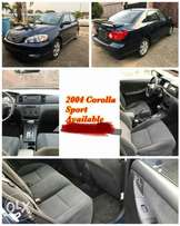 2004 Corolla sport Available