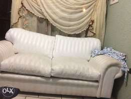 2piece cushions couch (white) on sale