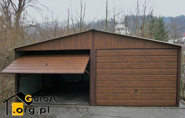 Poważnie Garaże Blaszane 6x5 PREMIUM Garaż Blaszany Blaszak Drewnopodobne DJ35