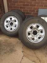 3 x Toyota Hilux Rims and Tyres