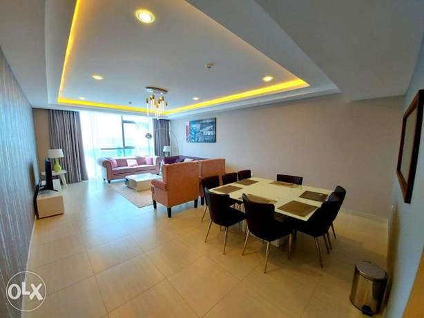 Super Brand New 2 BR FF Apartment in Amwaj Island For Rent
