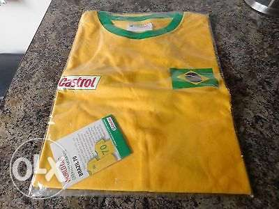 BRAZIL 70 Retro Football Supporter Fan Vintage World Cup T-Shirt L Umoja - image 1