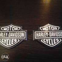Original Harley Metal Tankbadges